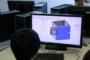3Dプリンターで出力するデータの作成など、プロの使用するソフトを使って体験